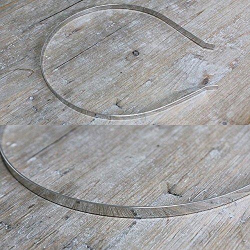 金属 カチューシャ台 [幅 5mm, シルバー 色]【業務用 10個セット】sgy-420_10p_fba