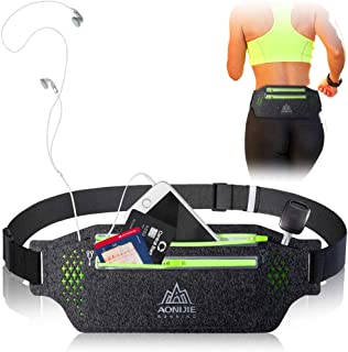 JHuuu Running Belt, Breathable Sweatproof Reflective Waist Pack Belt, Fitness Belt Compatible with iPhone11/11Pro/11Pro Ma...