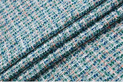 Meterware als Dekostoff- Herbst Und Winter Hellblau Mode Stoff Mantel Windjacke Wolle Tweed Stoff, Hellblau 0.5m