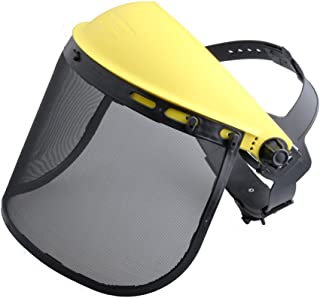 HIPA Safety Face Shield with Mesh Visor for Chainsaw Trimmer Pole Pruner