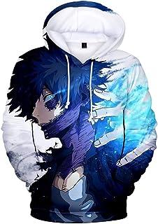 RAIN Boku No Hero Academia Hoodie 3D Printed Hooded Pullover Sweatshirt