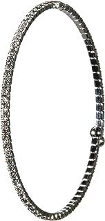 Womens CZ Bridal Wedding Bracelet Flexible Bachelorette Bangle Wrap