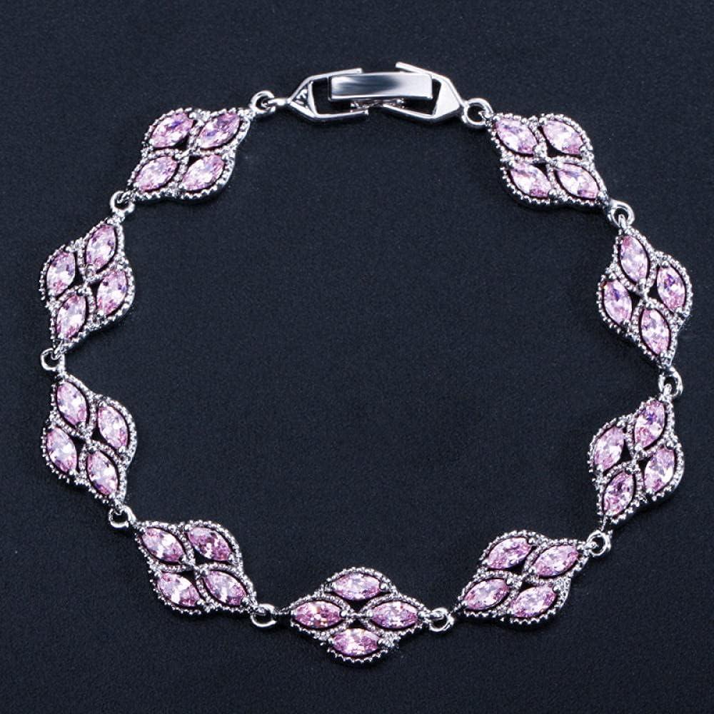 LIU HAI BING Our shop most popular Bracelets Cute 5 SEAL limited product Zircon Color Bracelet Silver Charm