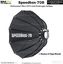 SMDV Diffuser SPEEDBOX-S70B - Professional 28-inch (70cm) Rigid Portable Quick Folding Dodecagon Softbox - Bowens S-Type M...