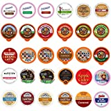 Custom Variety Pack Coffee, Tea, and Hot Chocolate Holiday Winter Sampler - Single Serve Pods for Keurig K-Cup Machines, 30 Assorted Flavors Party Mix