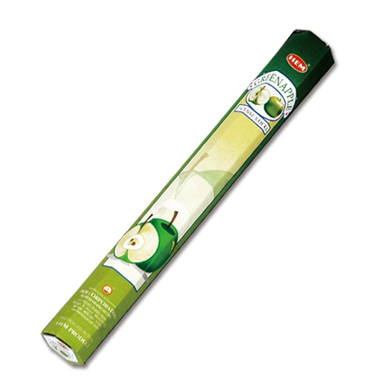 統合迅速手HEM(ヘム) グリーン?アップル GREEN-APPLE スティックタイプ お香 1筒 単品 [並行輸入品]