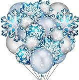 Globo Azul Frozen Fiesta Cumpleaños Decoración Frozen Cumpleanos Decoracion Globos de látex para Frozen Artículos de Fiesta Decoración de Nieve