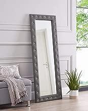 Naomi Home Crystal Tufted Mirror Gray
