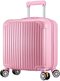 PC Durable Scratch-Resistant Password Boarding Hard Shell Travel Trolley Trolley Case 18 Inch Small Trolley Luggage (Color : Pink, Size : 18inch)