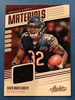 2019 Absolute Football Absolute Rookie Materials #10 David Montgomery Jersey Piece Chicago Bears RC Official Panini NFL Trading Card