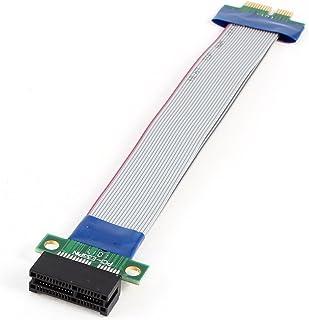 uxcell PCI-E 1X Slot Riser Card Flex Ribbon Extender Extension Cable Cord