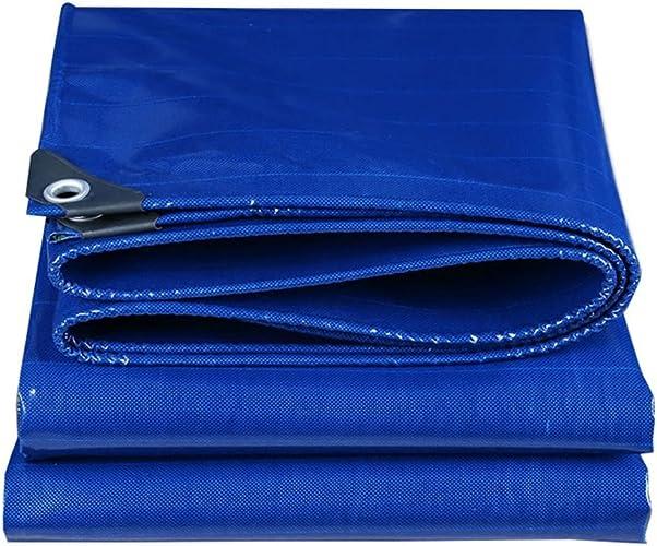 Baches Durable qualité feuille de sol couverture imperméable à l'eau couverture 500g   m2 couvre-sol pour camping, pêche, jardinage (bleu) Couverture de piscine (taille   3MX4M)