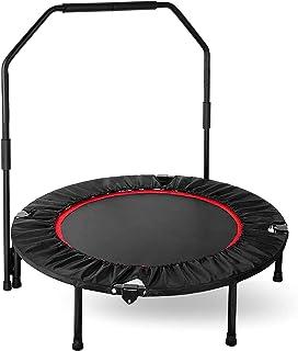 Fitness trampoline fitnesstrampoline met beugel opvouwbaar, Ø 101,6 cm, 3-voudig in hoogte verstelbare handgreep jumping ...