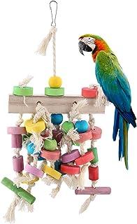 Juguete para Masticar Loros, Mascota, pájaro, Columpio Divertido, Escalera Colgante, Fuente de Escalada, Accesorio de Madera