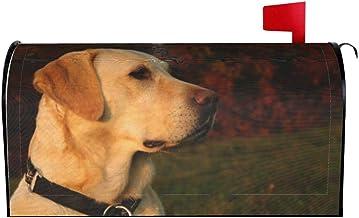 "AuHomea Golden Labrador Retriever Thuis Tuin Magnetische Postbus Cover Oversized Mail Cover Brief Post Box 25.5 ""x 21"""