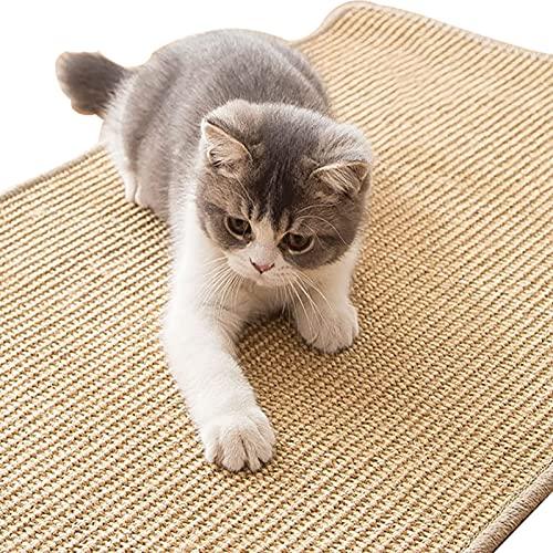 NMLC Almohadilla para rascar Gato, Manta de Gato Antideslizante Grande de sisal Natural para Proteger el Piso del sofá,M