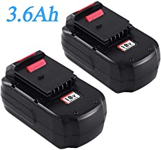 2Packs Upgraded to 3600mAh PC18B for Porter Cable 18V Battery Ni-Mh PC18BL PC18BLX..