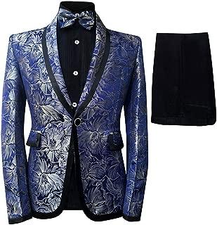 Men's Tuxedo Casual Dress Suit Slim Fit Jacket & Trouser