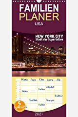 NEW YORK CITY Stadt der Superlative - Familienplaner hoch (Wandkalender 2021 , 21 cm x 45 cm, hoch): Urbane Ansichten aus der US-Metropole (Monatskalender, 14 Seiten ) (CALVENDO Orte) Kalender