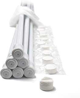 Danily Pack of 6 Cupboard Bars Adjustable Spring Loaded Tension Curtain Rods 28 to 48 Inches, White, Comes with Multipurpose Compressed Towels