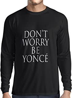 lepni.me Long Sleeve t Shirt Men Don't Worry! How to Be Happy Quotes, Famous Positive Sayings