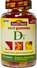 Nature Made Adult Gummies Vitamin D3, Value Size, 150 Count, Strawberry, Peach & Mango (Pack of 2)