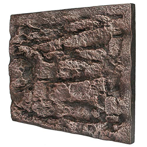 7thLake 1Pc 3D Foam Rock Reptile Stone Aquarium Background Wall Fish Tank Board Decor