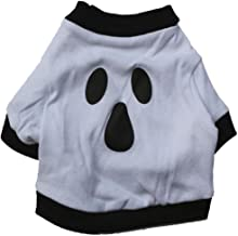 Cute Pet Costume Spring and Summer Pet Clothes Christmas Halloween Cat Dog Ghost T-Shirt_White M