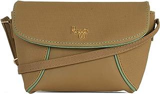 Baggit Autumn/Winter 2020 Faux Leather Women's Satchel Handbag (Yellow) (Matco)
