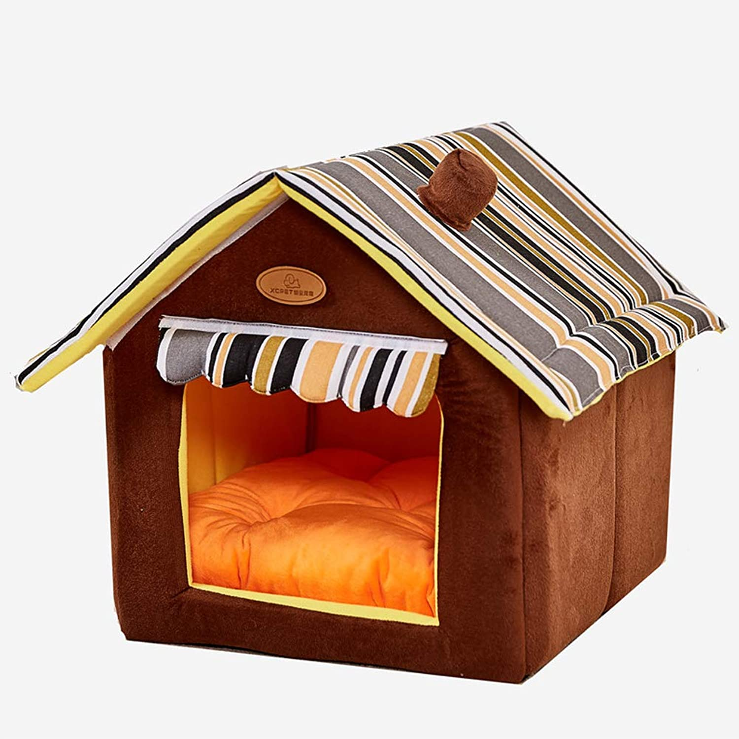 Inner Kennel Pet House Washable Cat Dog Bed A Mat, Dog Single Room Nest Cave, Foldable Bedroom Prepare A Warm House Your Pet