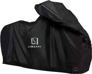 Libzaki バイクカバー 6000pa 防水 耐熱 UVカット 丈夫なオックス厚手生地 LL(2L)サイズ 230cmまで対応 大型バイク車体カバー 収納袋付き2019年最新版 (黒)