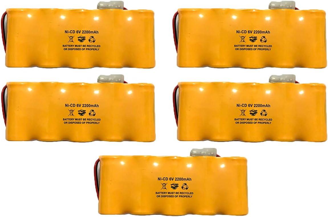 5 Genuine Pack Prescolite ENB-0604 ENB0604 Exit Ni-CD service Sign 6v 2200mAh