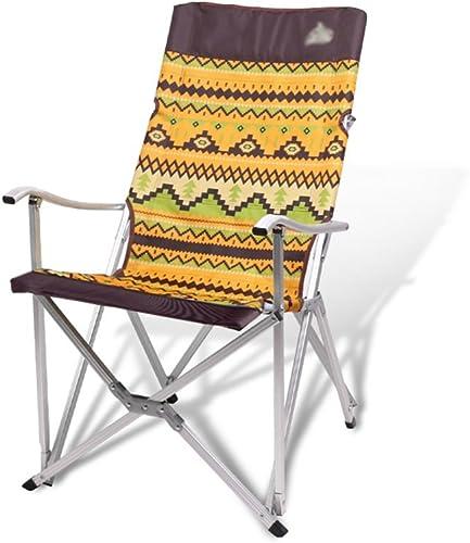 Meng wei shop Chaise pliante d'extérieur   accoudoir en aluminium portable fauteuil de loisirs   pêche tabouret pliant tabouret