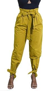 Yissang Women's Casual Loose High Waist Long Pencil Pants...