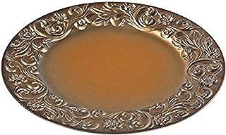 IH CASADECOR Charger Plate (Baroque) (Gold Brushed), Multi