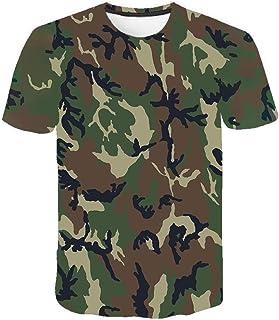 Camiseta para Hombre Moda para Hombre Deportes Fitness 23 Camuflaje Camisa 3DT de Manga Corta Camisa para camuflaje-TXA1075_S