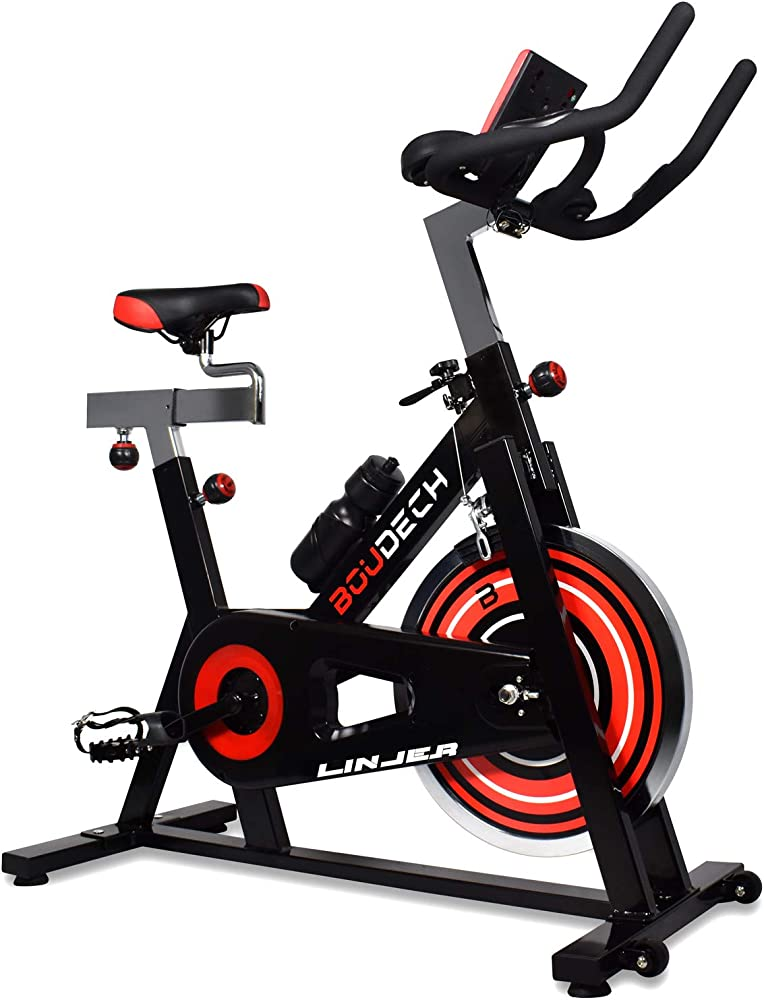 Boudech, cyclette aerobica da spinning,  bluetooth, cardio spin bike, funzionamento silenzioso KA-IQ0Q-PU5E