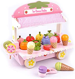 london-kate Deluxe ICE Cream Parlor Playset with Accessories; ice Cream Cones, ice Cream Scooper, Fruit, and Others