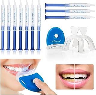 MS.DEAR Dental Equipment Teeth Whitening Gel Kit 44% Peroxide Dental Bleaching System LED Light Oral Gel Kit Tooth Whitener