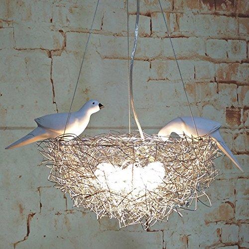 Le lustre design nid d'oiseaux