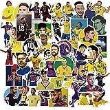 XXCKA Fútbol Estrella Neymar Pegatinas Maleta Graffiti Nevera portátil monopatín Equipaje fútbol Pegatinas Deporte niños calcomanía Regalo 50 Uds