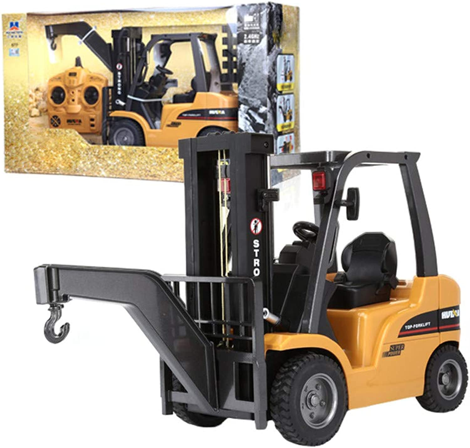 TOPQSC 1 10 Scale Remote Control Forklift 8 Channel Full divertimentoctional Professional RC Forklift High energiaosso Motors