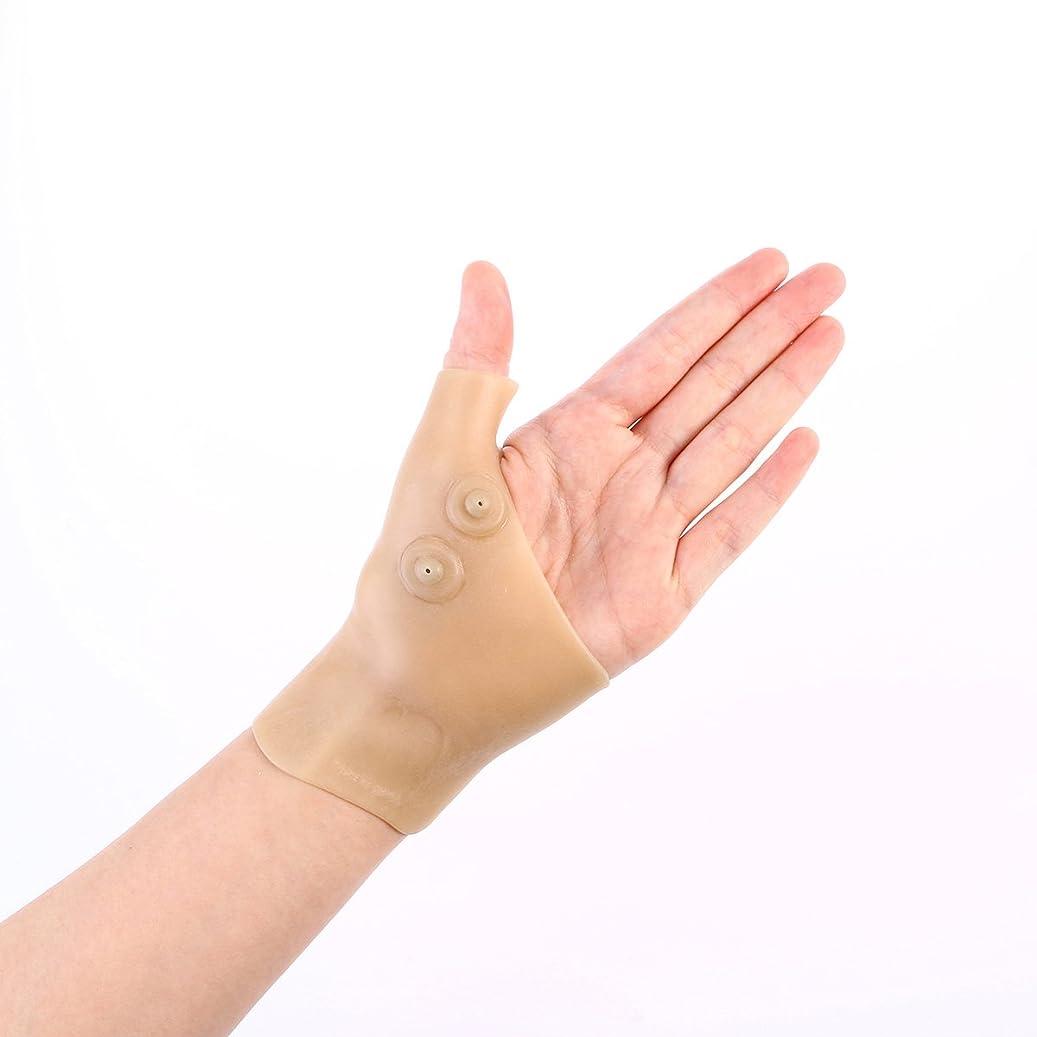 メタルライン土地伝統的Healifty 首サポートブレース シリコンゲル 腱鞘炎 バネ指 手首の親指の痛みを和らげる 2個