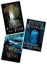 3 Book Set of The Kingkiller Chronicle Series (The Name of the Wind, Wise Man's Fear and The Slow Regard of Silent Things)