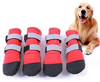 FLAdorepet Large Big Dog Sport Shoes Winter Waterproof Pet Dog Puppy Boots Non-Slip Pitbull Golden Retriever Rain Shoes