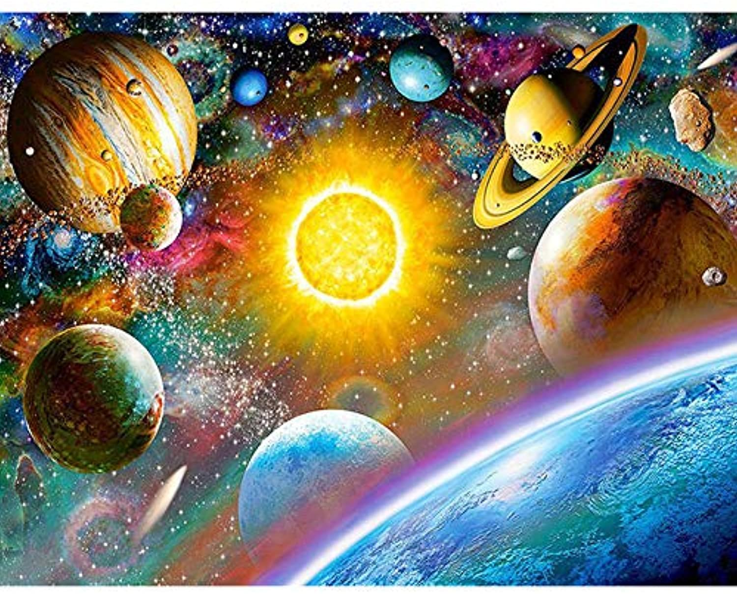 Diy Oil Painting Paint By Number Kit For Adult Kids - Painted Outer Space Planet,16X20 Inch