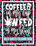 Weed Quotes Coloring Book: 30 Stoner Quotes Coloring Pages - Trippy Adult Coloring Books - Stress Relief and Relaxation- Stoner Color Book -Weed Coloring Book for Adults