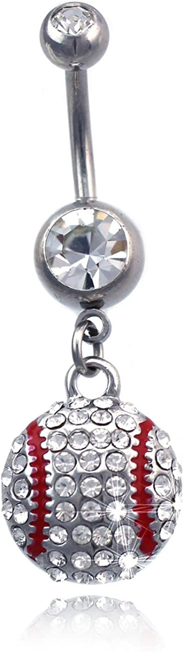 Sports Charm Dangle Navel Belly Ring Body Piercing Jewelry