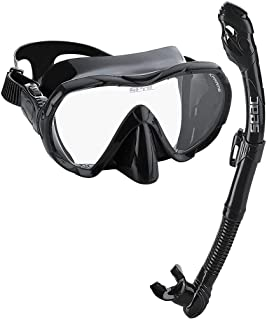 spearfishing mask and snorkel