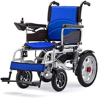 Sillas de ruedas eléctricas para adultos sillas de ruedas eléctricas, sillas de ruedas eléctricas Powered silla de ruedas ligera 26Kg pesada portátil plegable Deber Scooter, silla de ruedas motorizada